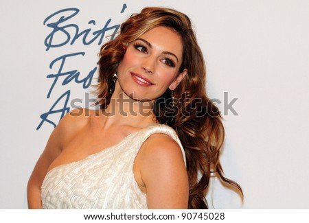 Kelly Brook arriving for the 2011 British Fashion Awards, at The Savoy, London. 28/11/2011 Picture by: Simon Burchell / Featureflash - stock photo
