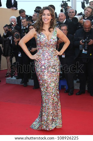 Kelly Brook arriving for the Killing them softly premiere, Cannes Film Festival. 22/05/2012 Picture by: Henry Harris / Featureflash - stock photo