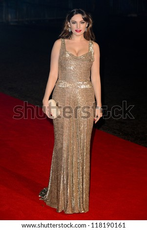 "Kelly Brook arriving for the ""Skyfall"" world premiere after party at the Tate Modern, London. 23/10/2012 - stock photo"