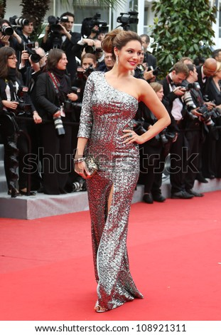 Kelly Brook arriving for the 'Vous N'avez Encore Rien Vu' (You ain't seen nothin yet) premiere during the 65th Cannes Film Festival Cannes, France. 21/05/2012 Picture by: Henry Harris / Featureflash - stock photo