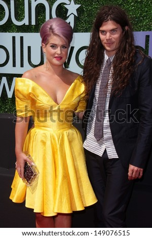 Kelly Osbourne and Matthew Mosshart at the 15th Annual Young Hollywood Awards, Broad Stage, Santa Monica, CA 08-01-13 - stock photo