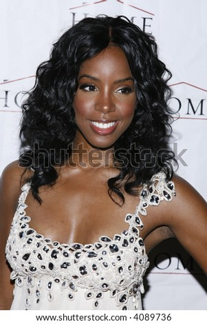 Kelly Rowland attends her record release party at HOME on July 10, 2007 in New York City. - stock photo