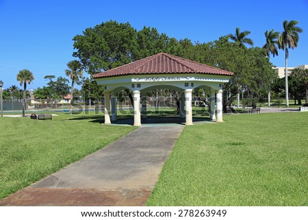 Kelsey Park is a local community park in Lake Park, Florida, a suburb of West Palm Beach - stock photo