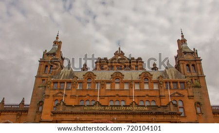 Kelvingrove Art Gallery and Museum in Glasgow, Scotland.