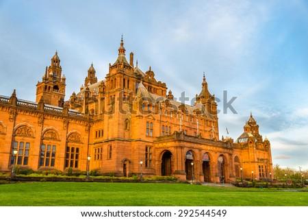 Kelvingrove Museum and Art Gallery in Glasgow - Scotland - stock photo