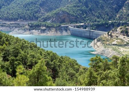 Kemer Dam, Aydin. - stock photo