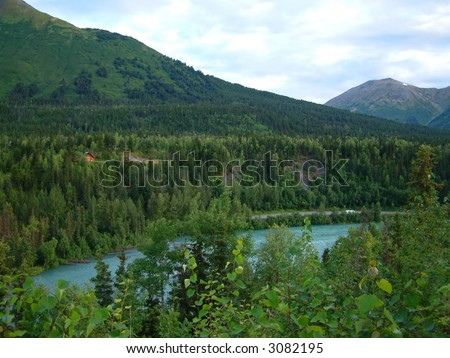Kenai River in Alaska - stock photo