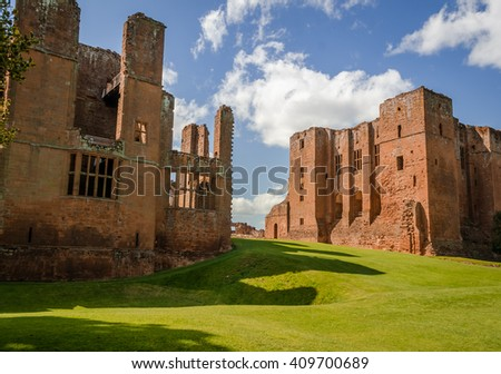 Kenilworth Castle in England, West Midlands, UK, formed a base for Lancastrian operations in the Wars of the Roses - stock photo