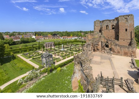 kenilworth castle warwickshire the midlands england uk - stock photo