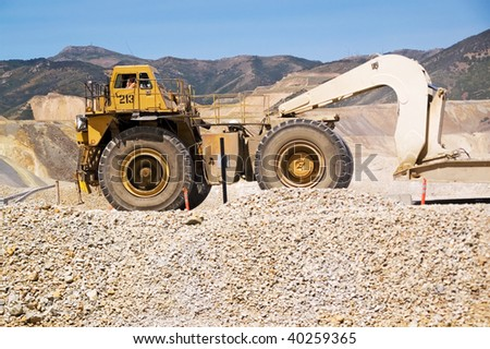 Kennecott Copper Mine, Utah, and a huge truck