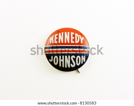 Kennedy campaign pin - stock photo