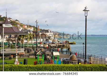 Kennedy Park at the coastal town of Cobh in Ireland - stock photo