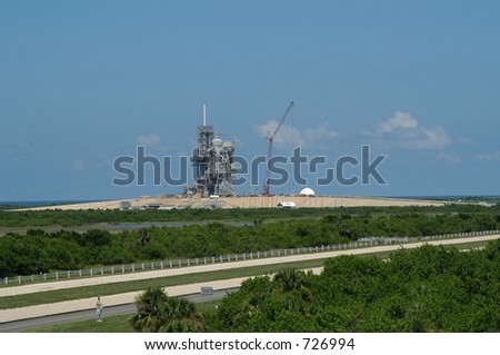 Kennedy Space Center launch station, Cape Canaveral, Florida - stock photo