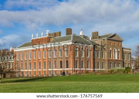 kensington palace in london - stock photo