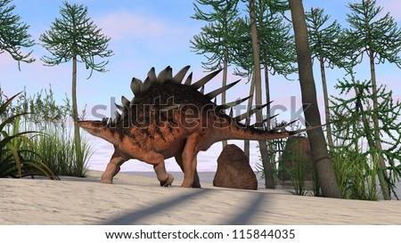 kentrosaurus - stock photo