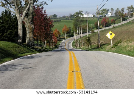 Kentucky blue grass county.  Home of America's finest race horses. - stock photo