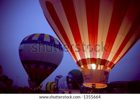 Kentucky Derby Balloon Glow 2006 - stock photo