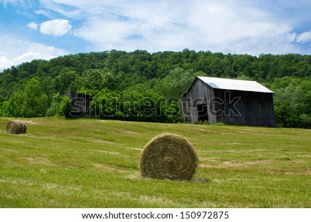Kentucky Farm, Lee County, Kentucky - stock photo