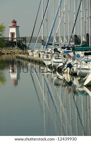 Kentucky lake boat moorage - stock photo
