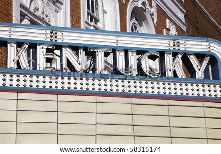 Kentucky sign seen in Lexington, Kentucky. - stock photo