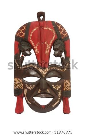 Kenyan Masai Mask - stock photo