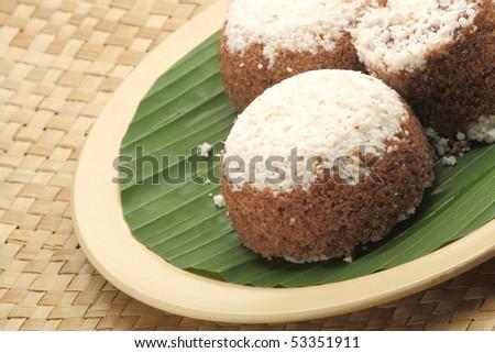 Kerala Puttu - An Indian breakfast dish - stock photo