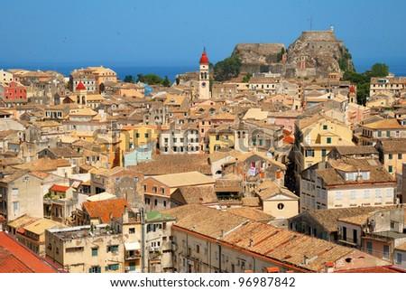 Kerkyra Town in Corfu - stock photo