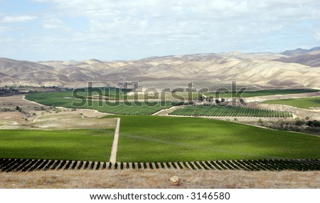 Kern County vista - stock photo