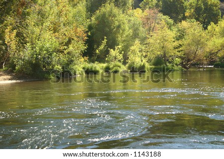 Kern River, Ca.  in late summer - slow and deep