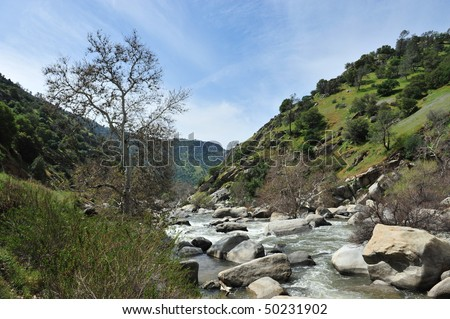 Kern River California - stock photo