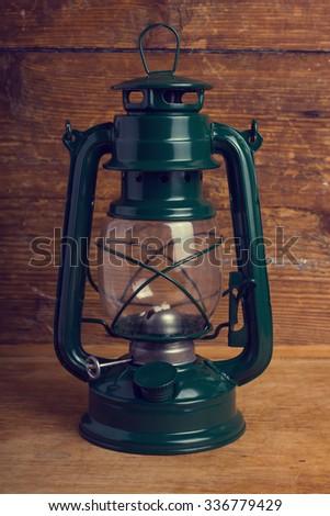 kerosene lantern - stock photo
