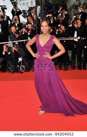 """Kerry Washington at premiere for """"The Palermo Shooting"""" at the 61st Annual International Film Festival de Cannes.  May 24, 2008  Cannes, France. Picture: Paul Smith / Featureflash - stock photo"""