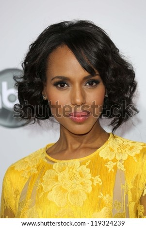 Kerry Washington at the 40th American Music Awards Arrivals, Nokia Theatre, Los Angeles, CA 11-18-12 - stock photo