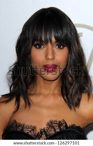 Kerry Washington at the 24th Annual Producers Guild Awards, Beverly Hilton, Beverly Hills, CA 01-26-13 - stock photo