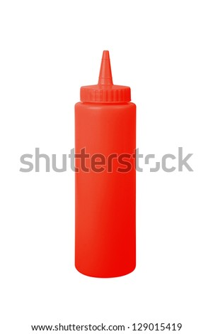 ketchup bottle on a white background