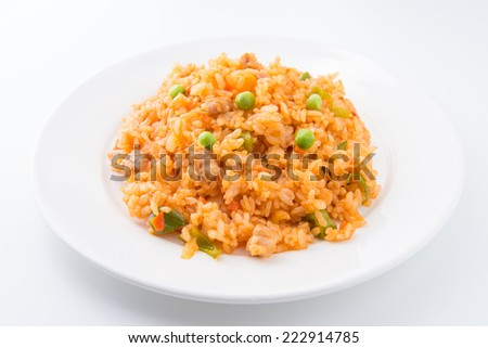 ketchup rice  japanese chicken rice