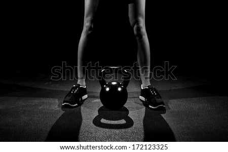 Kettle Bell Work - stock photo