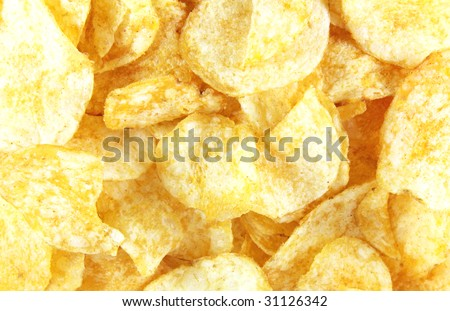 Kettle Cooked Potato Chips Food Whole Background