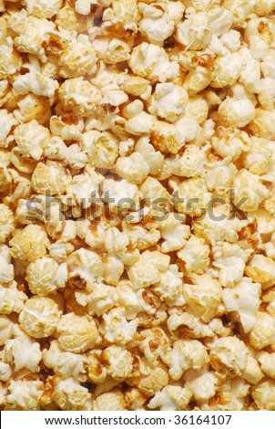 Kettle corn up close and full frame as a background.