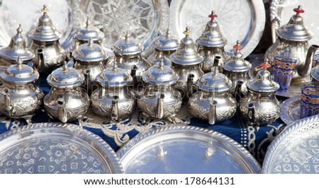 Kettle in Morocco - stock photo