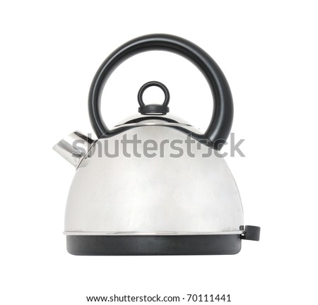 Kettle isolated on white - stock photo