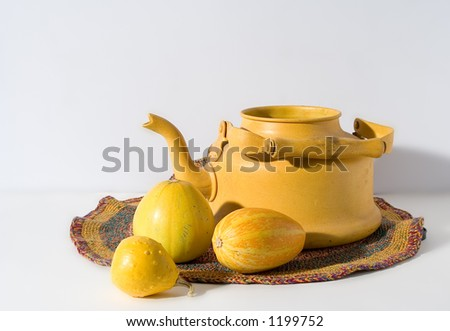 kettle still life - stock photo