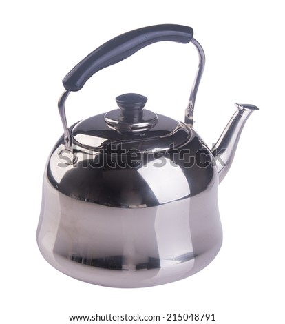 Kettle with whistle on the background.