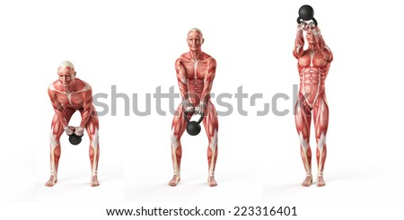 kettlebell exercise - side step swing