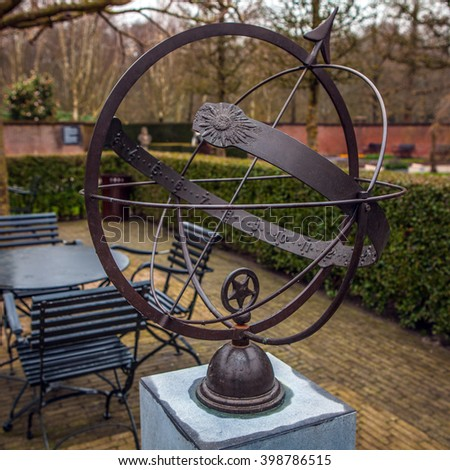 KEUKENHOF GARDEN, NETHERLANDS - MARCH 24: Statue in park. Keukenhof is the world's largest flower garden. Keukenhof Garden, Lisse, Netherlands - March 24, 2016.