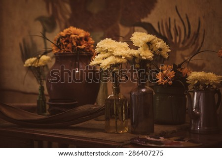 KEUKENHOF, NETHERLANDS - MAY 13 : Van Gogh room of Keukenhof king garden conservatory on May 13, 2015  in Netherland. The room is transformed into the painting 'The Bedroom' - stock photo