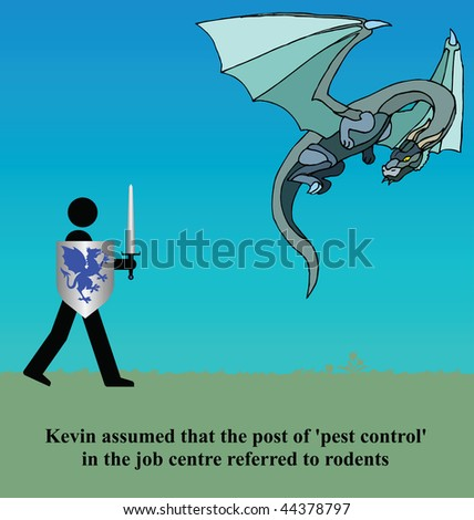 Kevin assumed pest control referred to rodents - stock photo