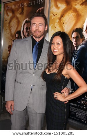 "Kevin Durand, Sandra Cho at the ""The Mortal Instruments: City Of Bones"" Los Angeles Premiere, Arclight, Hollywood, CA 08-12-13"