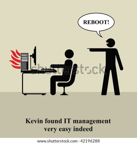 Kevin found IT management very easy indeed - stock photo
