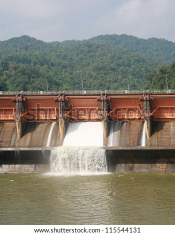 Kewlom dam, Lampang province , Thailand - stock photo